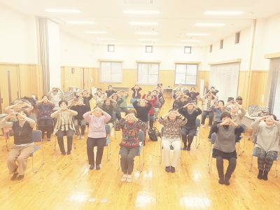神河町·老人会女性部でハート体操